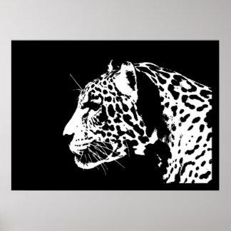 De Druk van het Poster van Jaguar - de Zwarte & Wi