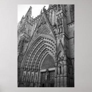 De Druk van het Poster van La Catedral (Barcelona,