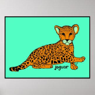 De Druk van Jaguar van het baby Poster