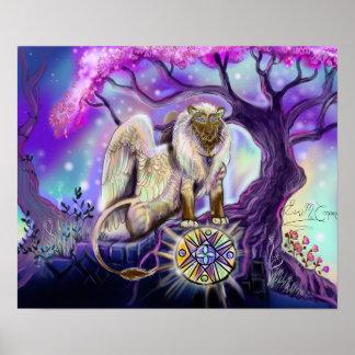 De druk van Lion~art van de hemel Poster