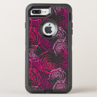 De Druk van rozen OtterBox Defender iPhone 8 Plus / 7 Plus Hoesje