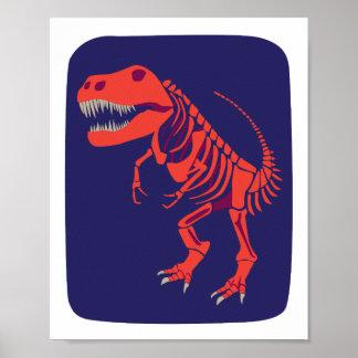 De Druk van t-Rex van de vuurbol Poster