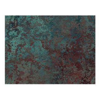 """De drukbriefkaart van het """"Koper"""" van de corrosie Briefkaart"""