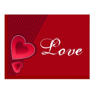 De dubbele Liefde van Harten Briefkaart