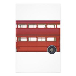 De dubbele Rode Bus van het Dek Briefpapier