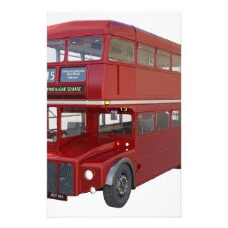 De dubbele Rode Bus van het Dek vooraan Profiel Briefpapier