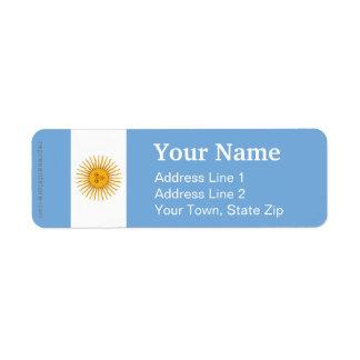 De Duidelijke Vlag van Argentinië Retouretiket