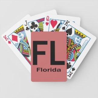 De duidelijke zwarte van FL Florida Kaartspel