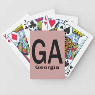 De duidelijke zwarte van GA Georgië Poker Kaarten