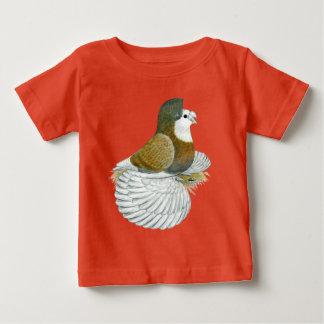 De Duif AOC Baldhead van de trompetter Baby T Shirts