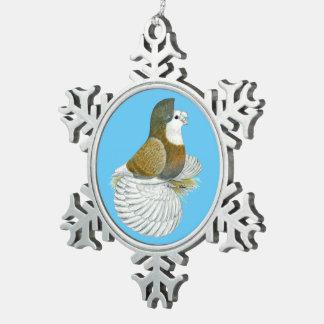De Duif AOC Baldhead van de trompetter Tin Sneeuwvlok Ornament