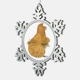 De Duif Deroy van de trompetter Tin Sneeuwvlok Ornament