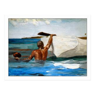 De duiker van de Spons door Winslow Homer Briefkaart