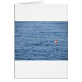 De duiker van het zee in scuba-uitrustingskostuum kaart