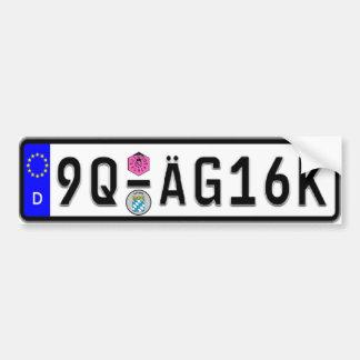De Duitse Euro Sticker van de Bumper van de