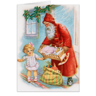 De Duitse Kerstkaart van de Kerstman Kaart