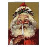 De Duitse Kerstman van de vintage Kerstkaart Kaarten