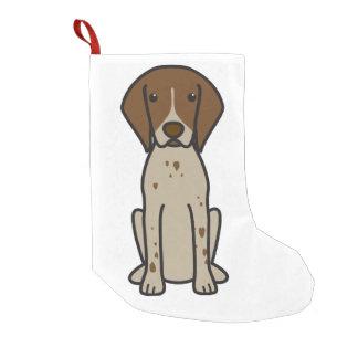 De Duitse Kortharige Cartoon van de Hond van de Kleine Kerstsok