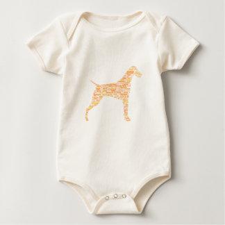 De Duitse Kortharige Typografie van de Wijzer Baby Shirt