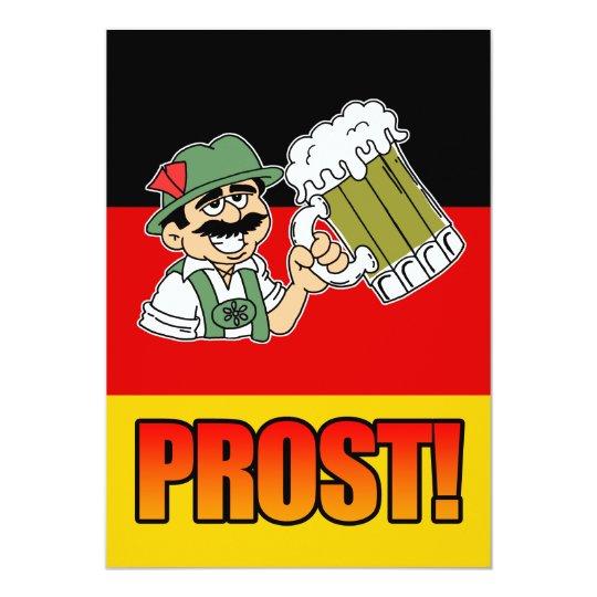 De Duitse Partij Van Het Man Van Prost Lederhosen Kaart