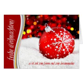 De Duitse Rode Sneeuwvlok van Weihnachten van Briefkaarten 0