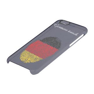 De Duitse vlag van de aanrakingsvingerafdruk