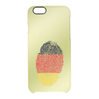 De Duitse vlag van de aanrakingsvingerafdruk Doorzichtig iPhone 6/6S Hoesje