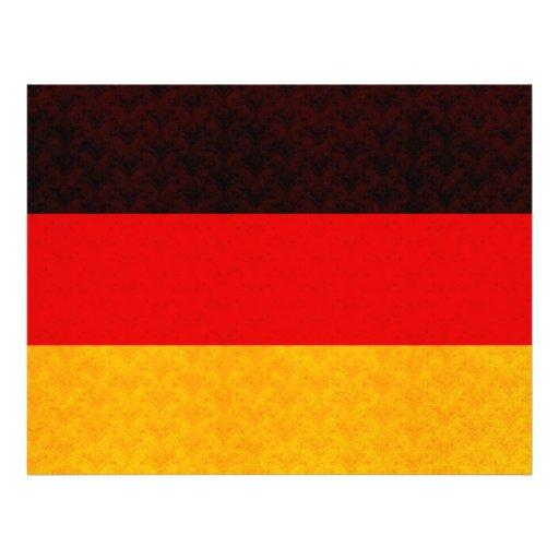 De Duitse Vlag van het vintage Patroon Persoonlijke Folder
