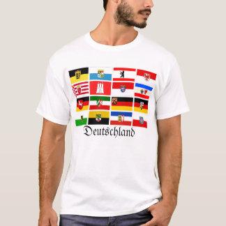 De Duitse Vlaggen Deutschland van de Staat van T Shirt