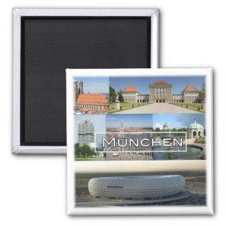 DE * Duitsland - München München - Mozaïek Vierkante Magneet