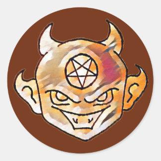 De Duivel van Lil Ronde Sticker