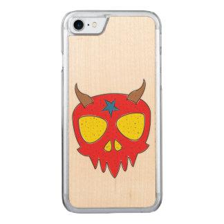 De duivelse Illustratie van de Schedel Carved iPhone 8/7 Hoesje