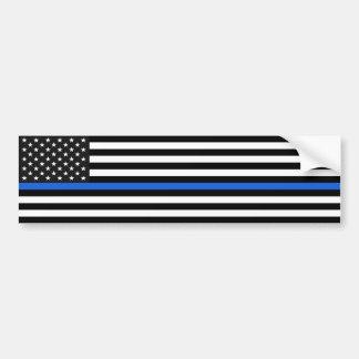 De dunne Amerikaanse Vlag van Blue Line Bumpersticker