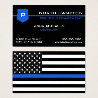 De dunne Amerikaanse Vlag van Blue Line Visitekaartjes
