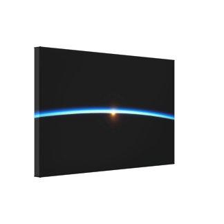 De dunne Blue Line Verpakte Druk van het Canvas