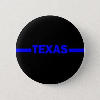 De dunne Politieman van Blue Line TEXAS Ronde Button 5,7 Cm