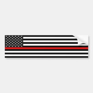 De dunne Rode Amerikaanse Vlag van de Lijn Bumpersticker