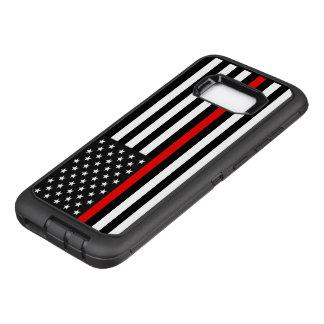 De dunne Rode Amerikaanse Vlag van de Lijn OtterBox Defender Samsung Galaxy S8+ Hoesje