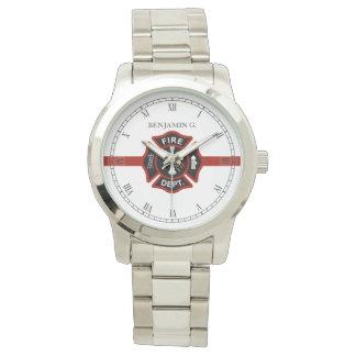 De dunne Rode Lijn Aangepaste Redding Themed van Horloge