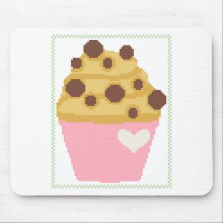 de dwars muffin van de steekchocoladeschilfer muismat