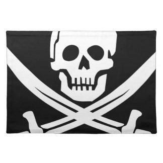 De dwars Schedel van de Piraat van de Vlag van het Placemat