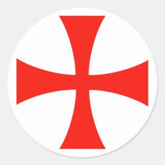 De DwarsSticker van Templar van Knight's* Ronde Stickers