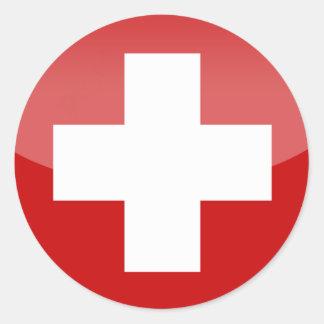 de dwarssticker van Zwitserland Ronde Sticker