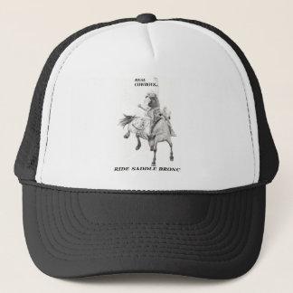 De echte Cowboys berijden Zadel Bronc Trucker Pet