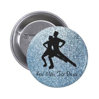 De echte Dans van het Ijs van het Man Ronde Button 5,7 Cm