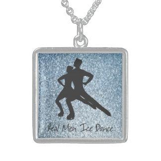 De echte Dans van het Ijs van het Man Sterling Zilver Ketting