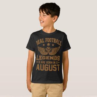 de echte footballlegenden zijn geboren in augustus t shirt