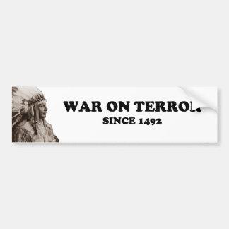 De echte Oorlog op Verschrikking Bumpersticker