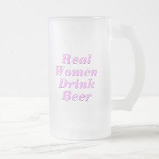 De echte Vrouwen drink Bier #2 Matglas Bierpul