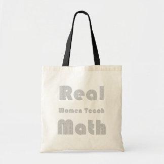De echte Vrouwen onderwijzen Wiskunde Draagtas